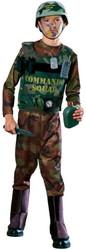 COMMANDO SOLDIER ARMY set kids boys halloween costume S