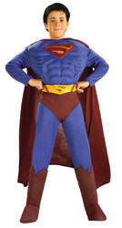 Superman Returns Deluxe Muscle boys Costume L (12-14)
