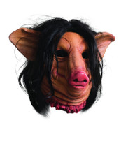 Pig Face Saw Overhead Latex adult mens Mask costume accessory