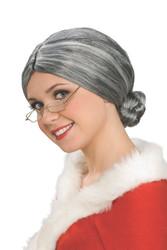 Mrs. Santa - Old Lady Wig - grey