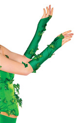 Poison Ivy Adult Womens Gloveletts Costume Accessory