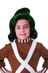 Kids Oompa Loompa Wig Willy Wonka Chocolate Factory