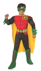 Photo Real Deluxe Muscle Chest Kids Robin Costume