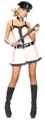 Police Officer Pink Sexy Dress Adult Womens Costume