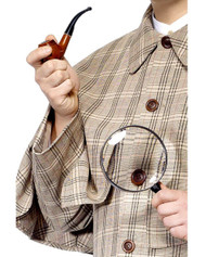 Sherlock Holmes Pipe And Magnifying Glass Costume Accessory Kit