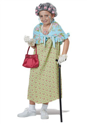Child Old Lady Dress Up Kit