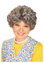 Yo Momma Wig Women's Mom Grandma Gray Wig