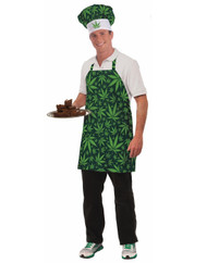 Forum Novelties Men's Cannabis Costume Hat and Apron, Green, Standard