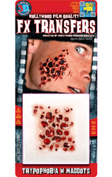 Trypophobia with Maggots 3D Temporary Tattoo Tinsley Transfers - Small