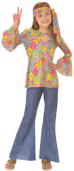 Flower child girls hippie 60s costume