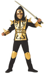 Gold Dragon Ninja Boys Costume