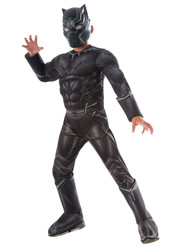 Deluxe Muscle Black Panther Child Costume