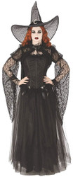 Shadowy Shrug Top Gothic Black Fancy Dress Up Halloween Adult Costume Accessory - Large