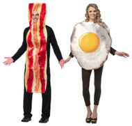 Bacon and Egg Couples Halloween Costume Set