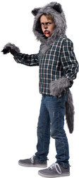 Child's Howl At The Moon Turned Werewolf Costume Accessory Kit
