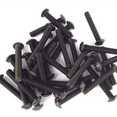 Black Button Hex Screw Bolts