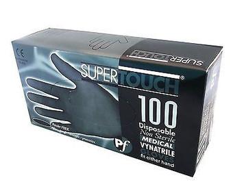 Black Vynatrile Latex Free Gloves
