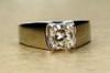 Classic radiant cut diamond engagement ring