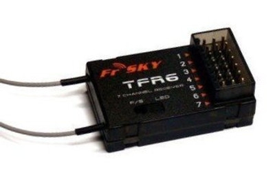 Receiver 7ch FrSky TFR6 2.4Ghz Fasst/Futaba Compatible