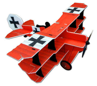 "TH 35"" EPP Crack Fokker Dr.1 Tri - Red/White"