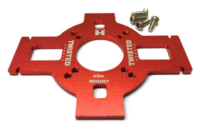"TMW 43"" Veloxity/Edge XL Alum Motor Mount - RED -"