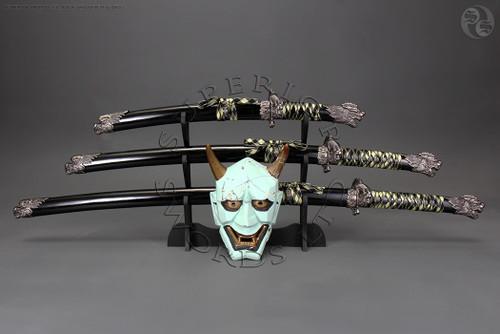 tachi, katana, samurai, sword, set