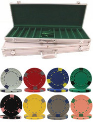 500PC PRO CLAY 13GM CLAY POKER CHIP SET WITH ALUMINUM CASE