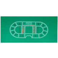 BACCARAT CASINO TABLE GREEN FELT LAYOUT