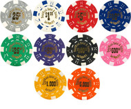 DEADWOOD Hotel & Casino Poker Chip Sample Set - 10 Different Chips!
