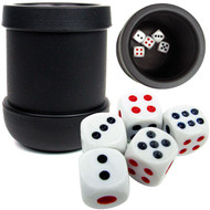 BLACK HEAVY DUTY Craps Dice Cup - Comes with 5 Dice!