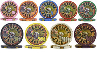 25 NEVADA JACKS CERAMIC CLAY POKER CHIPS - 10 GRAM, 39mm