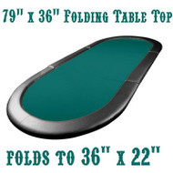 DELUXE Texas Hold'em Poker Padded Table Top - 79 x 36