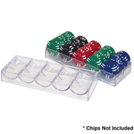 10 ACRYLIC CHIP RACKS - FITS COVER