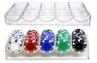 5 NEW CLEAR ACRYLIC Poker Chip Rack/Tray - FITS COVER