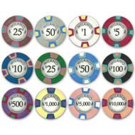 Milano Claysmith 10gm Premium Clay Poker Chips - 12 Chip Sample Set