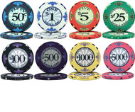 50 Scroll Design Ceramic Clay 10gm Poker Chips - CHOOSE CHIPS