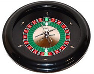 DELUXE18 INCH Bakelite Roulette Wheel with Solid Casting