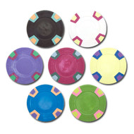 25 Double Trapezoid Blank Claysmith 10gm Clay Poker Chips - Choose Colors!
