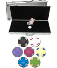 Double Trapezoid Blank 10gm 500 Chip Clay Poker Set W/aluminunum Case - Choose Chips
