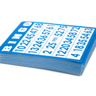 50 Pack of Bingo Cards with Unique Numbers - All Different!