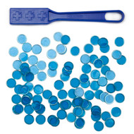 Magnetic Bingo Wand with 100 Metallic Bingo Chips - Choose From 4 Colors!