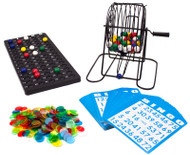 Deluxe Bingo Game Set - Includes Colored Balls, 300 Chips and 50 Cards!