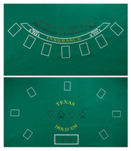 Double Sided Blackjack and Texas Holdem Full Size Poker Felt Layout - With Dealer Position!