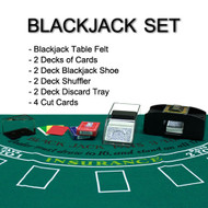 Complete All-in-One Home Style Double Deck Blackjack Set - Play Blackjack at Home!