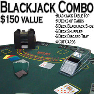 Professional Casino Style PREMIUM Blackjack Set with Table Top - Play Blackjack at Home!t - Play Blackjack Anywhere!