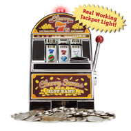Replica Cherry Sevens Mini Slot Machine Bank - Comes with 10 Tokens!