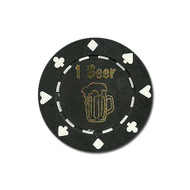 ONE (1) Beer Poker Chip Button Marker Token