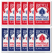 Bicycle Pinochle Playing Cards - 1 DOZEN (12 Decks)