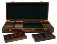 Quality Walnut Wooden 500 Chip Poker Case