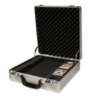 Deluxe 500 Chip Aluminum Claysmith Poker Chip Gaming Case